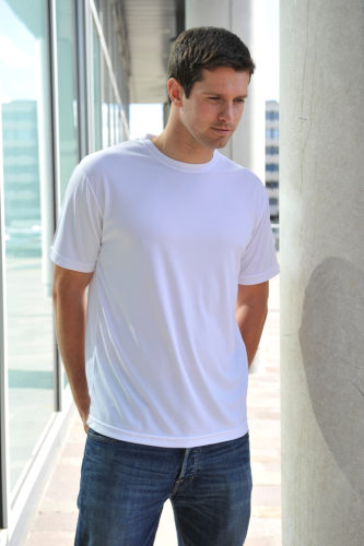 RUBC Men's White Tech T-Shirt
