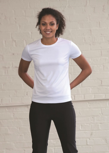 RUBC Women's White Tech T-Shirt