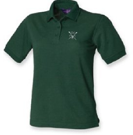 CoBRC Women's Green Polo Shirt