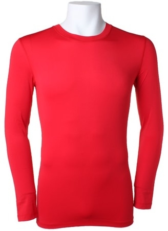 Red Warmtex Long Sleeved Baselayer