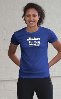 Staines Strollers Women's Royal Blue Tech T-Shirt