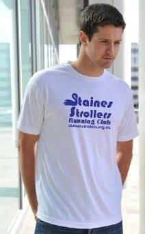 Staines Strollers Men's White Tech T-Shirt
