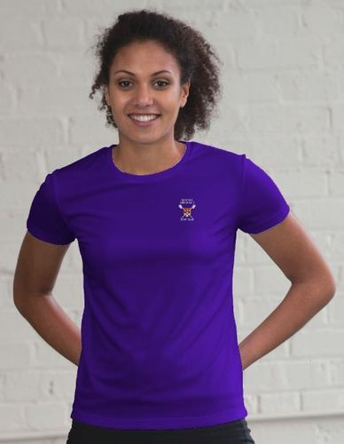 RUBC Women's Purple Tech T-Shirt