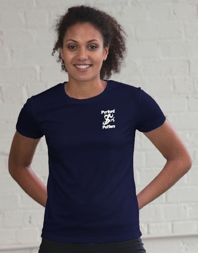 Pyrford Puffers Women's Navy Tech T-Shirt
