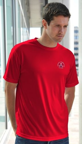 Agecroft RC Men's Red Tech T-Shirt