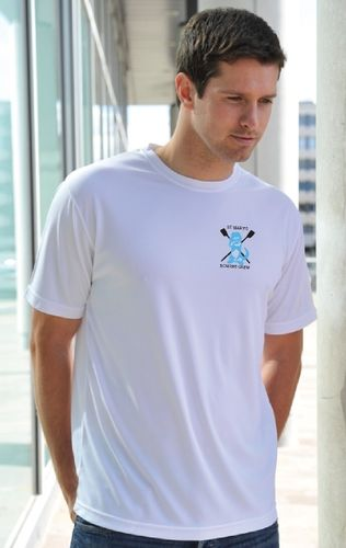 St Mary's Men's White Tech T-Shirt