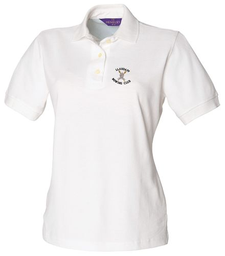 Llandaff RC Women's White Polo Shirt