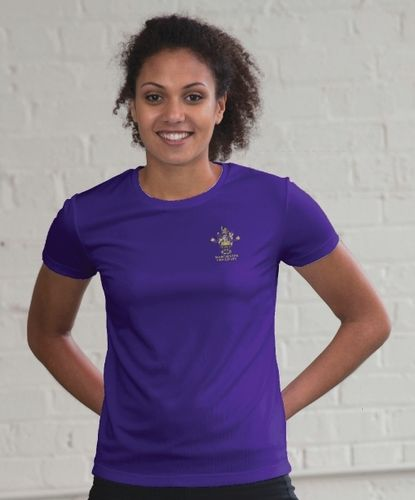 MUBC Women's Purple Tech T-Shirt