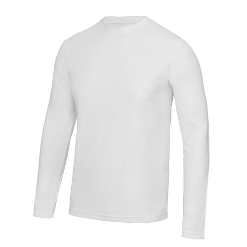 Men's White Long Sleeved Cool T