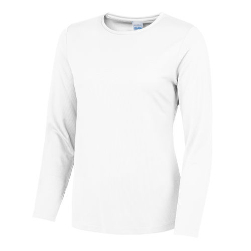 Women's White Long Sleeved Cool T