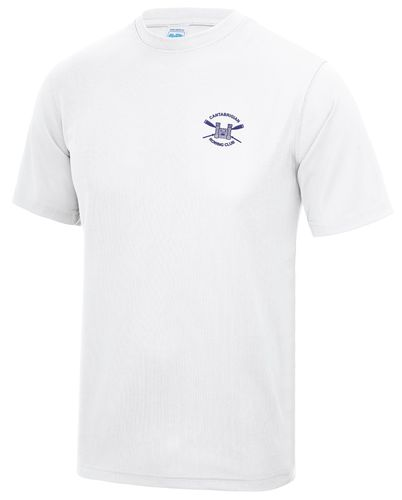 Cantabrigian RC Men's White Tech T-Shirt