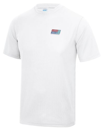 Visit Seattle Clipper 17-18 Men's White Tech T-Shirt