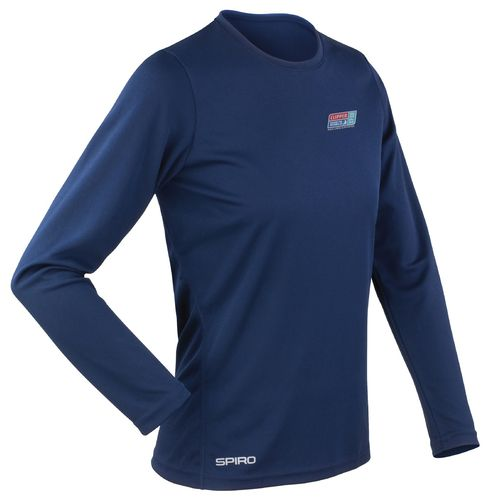 Visit Seattle Clipper 17-18 Women's Navy LS Shirt