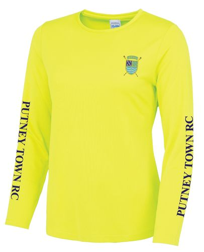 PTRC Women's Electric Yellow Long Sleeved Cool T