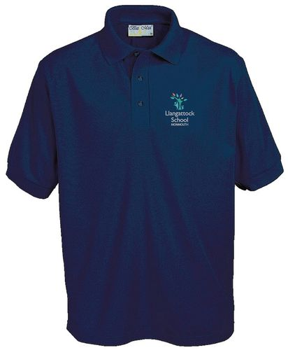 Llangattock School Navy Polo Shirt
