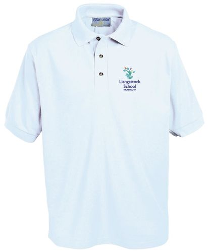 Llangattock School White Polo Shirt