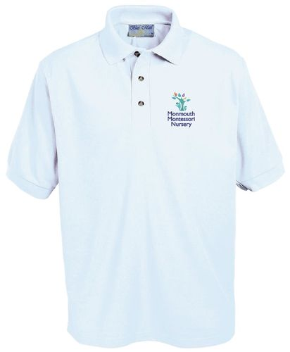 Monmouth Montesorri Nursery White Polo Shirt