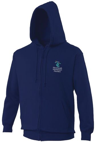 Monmouth Montessori Nursery Adults Zipped Hoodie