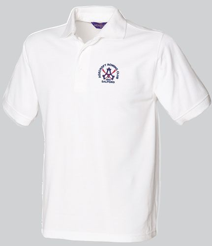 Agecroft RC Men's White Polo Shirt
