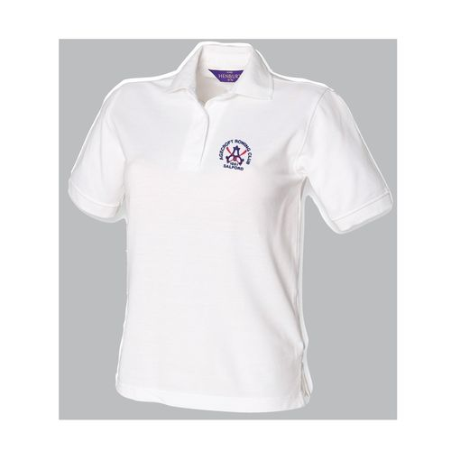 Agecroft RC Women's White Polo Shirt
