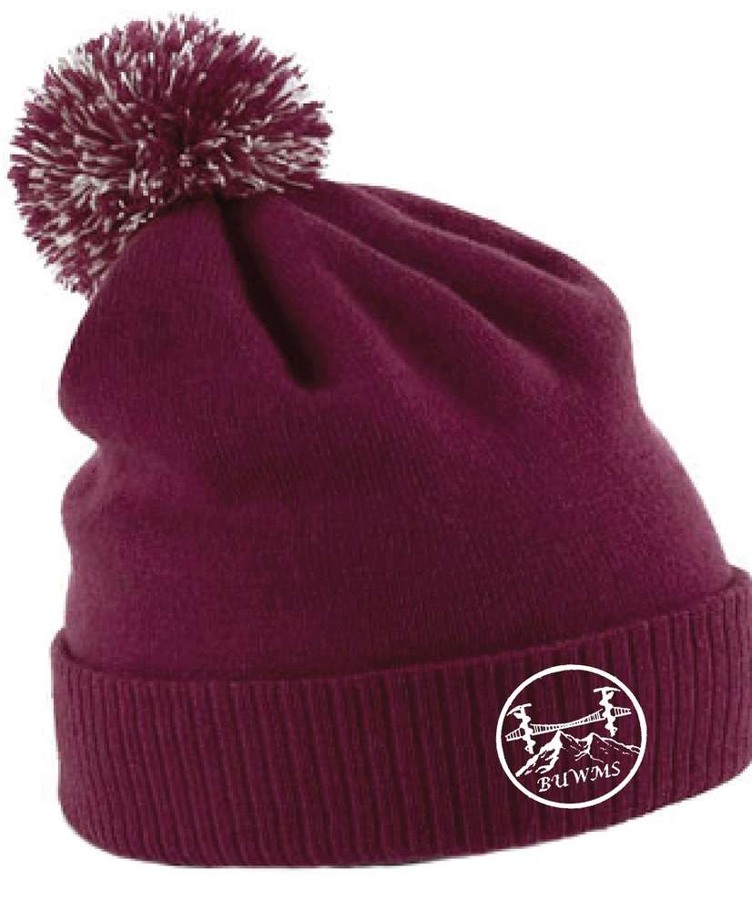 BUWMS Burgundy Bobble Hat - The Kit Crew 0a94fe31678