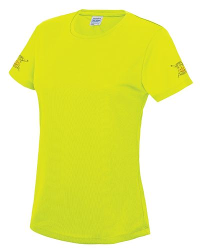 Derby RC Women's Electric Yellow Tech T-Shirt