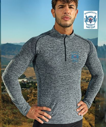 MCSBC Men's Long Sleeved Performance Zip Top