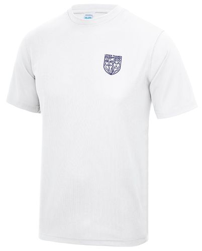 UTRC Men's White Embroidered Tech T-Shirt